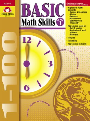 cover image of Basic Math Skills, Grade 1