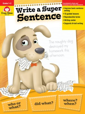 cover image of Write a Super Sentence, Grades 1-3