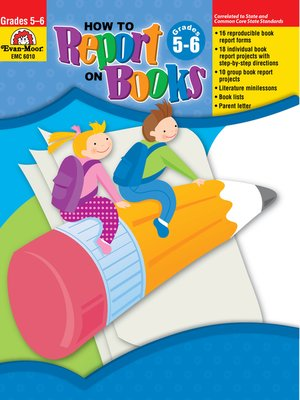 cover image of How to Report on Books, Grades 5-6
