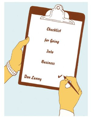 cover image of Checklist for Going into Business