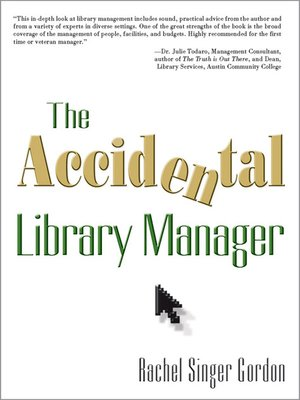cover image of The Accidental Library Manager