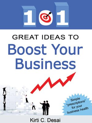 cover image of 101 Great Ideas To Boost Your Business by Kirti C. Desai
