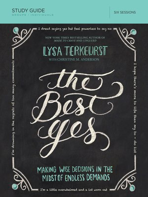 cover image of The Best Yes Study Guide