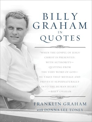 cover image of Billy Graham in Quotes