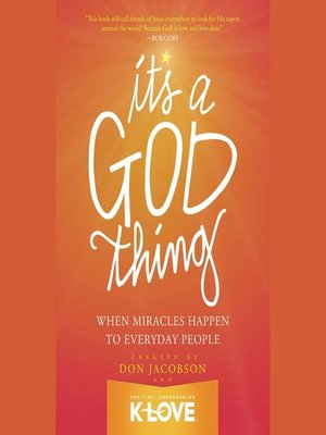 cover image of It's a God Thing