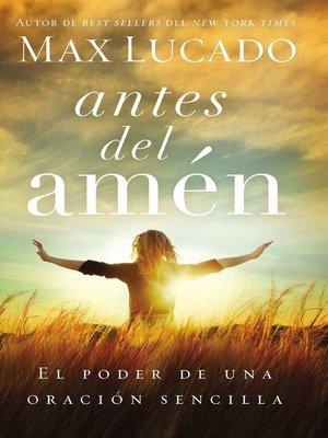 cover image of Antes del amén