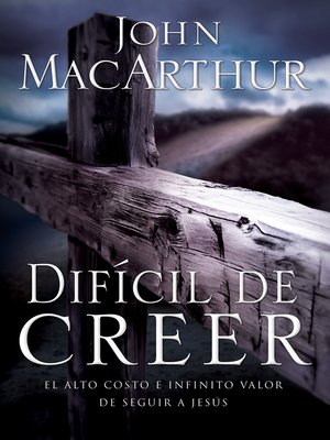 cover image of Difícil de creer
