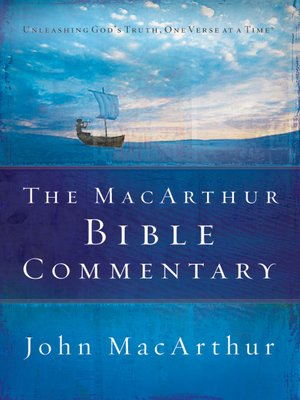 cover image of The MacArthur Bible Commentary