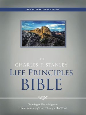 cover image of NIV, the Charles F. Stanley Life Principles Bible