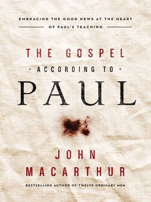 cover image of The Gospel According to Paul