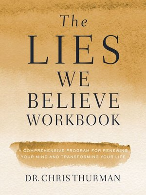 cover image of The Lies We Believe Workbook