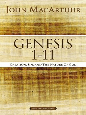 cover image of Genesis 1 to 11