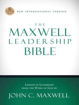 cover image of NIV, the Maxwell Leadership Bible