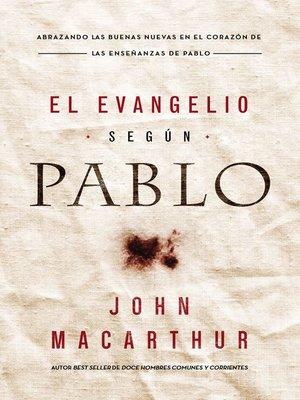 cover image of El Evangelio según Pablo