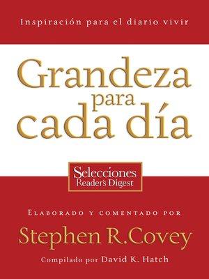 cover image of Grandeza para cada día