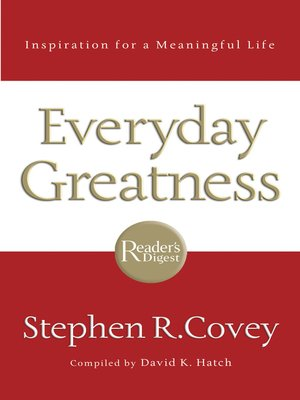 cover image of Everyday Greatness