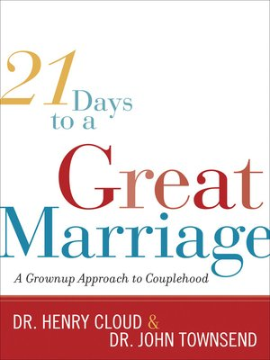 cover image of 21 Days to a Great Marriage