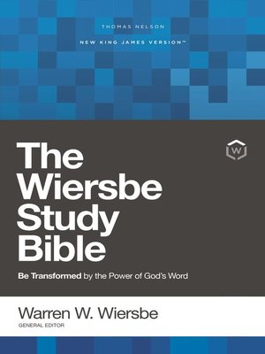 cover image of NKJV, Wiersbe Study Bible, Red Letter Edition, Ebook