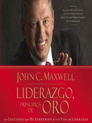 cover image of Liderazgo, principios de oro