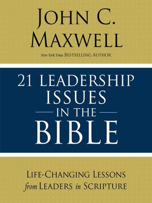 cover image of 21 Leadership Issues in the Bible