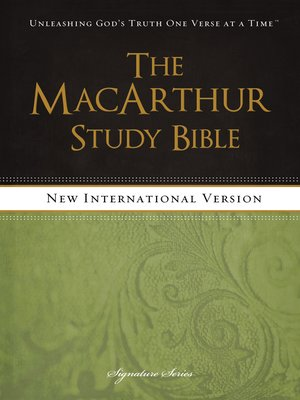 cover image of NIV, the MacArthur Study Bible, eBook