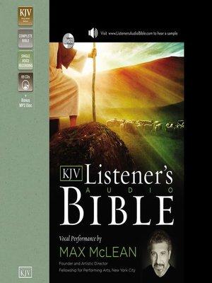cover image of The Listener's Audio Bible--King James Version, KJV
