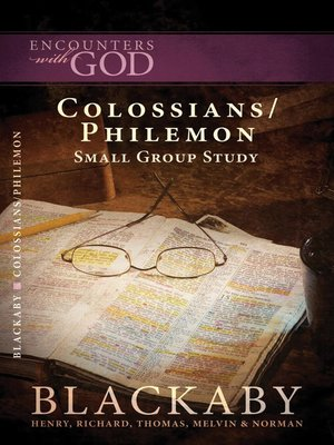 Colossians philemon by henry blackaby overdrive rakuten colossians philemon fandeluxe Images