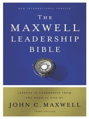cover image of NIV, Maxwell Leadership Bible, Ebook