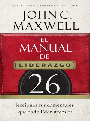 cover image of El manual de liderazgo