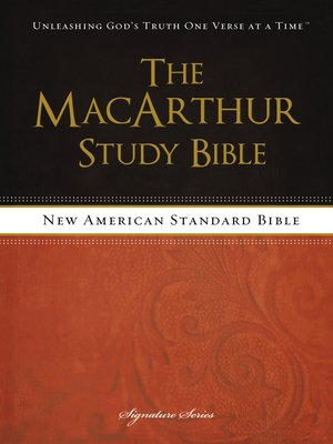 cover image of The MacArthur Study Bible, NASB