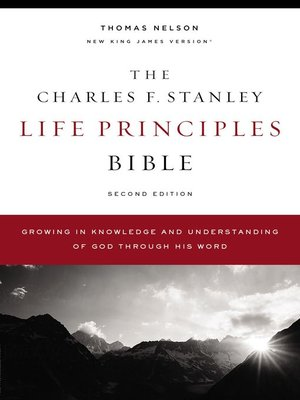 cover image of The NKJV, Charles F. Stanley Life Principles Bible, eBook