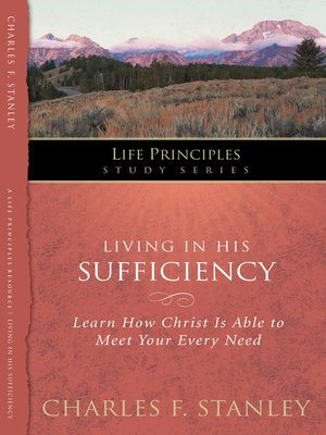 cover image of Living in His Sufficiency