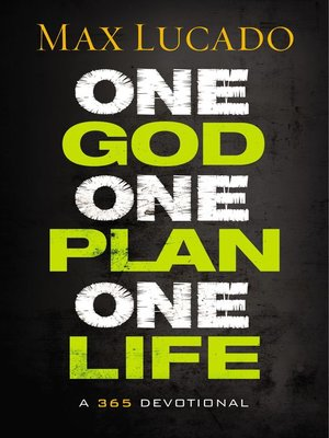 cover image of One God, One Plan, One Life