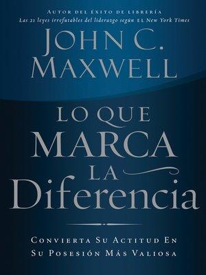 cover image of Lo que marca la diferencia