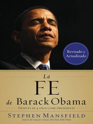 cover image of La fe de Barack Obama
