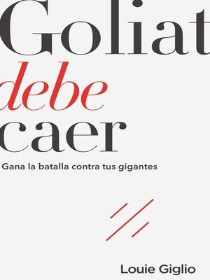cover image of Goliat debe caer