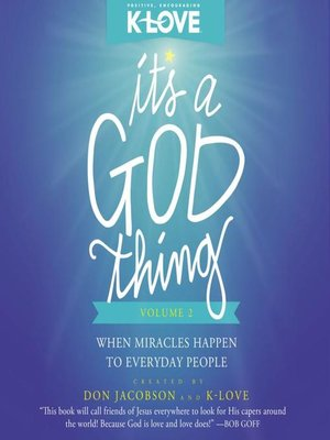 cover image of It's a God Thing Volume 2