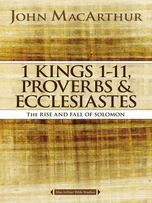 cover image of 1 Kings 1 to 11, Proverbs, and Ecclesiastes