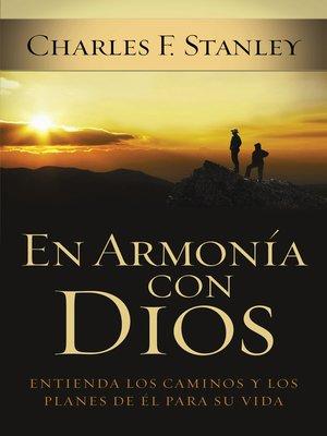 cover image of En armonía con Dios
