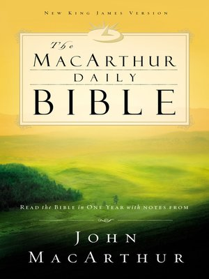 cover image of NKJV, the MacArthur Daily Bible, eBook
