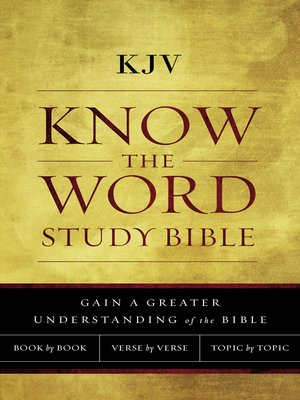 cover image of KJV, Know the Word Study Bible, Ebook, Red Letter