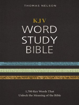 cover image of KJV, Word Study Bible, Ebook, Red Letter