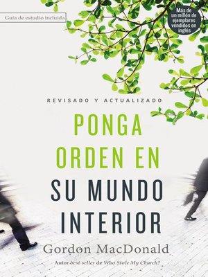cover image of Ponga orden en su mundo interior