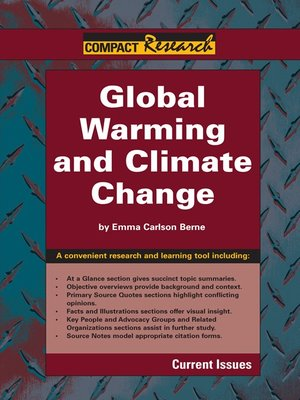 cover image of Global Warming and Climate Change