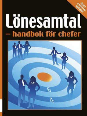 cover image of Lönesamtal – handbok för chefer