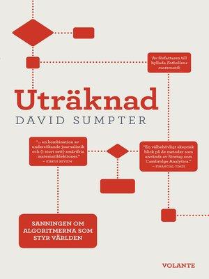 cover image of Uträknad