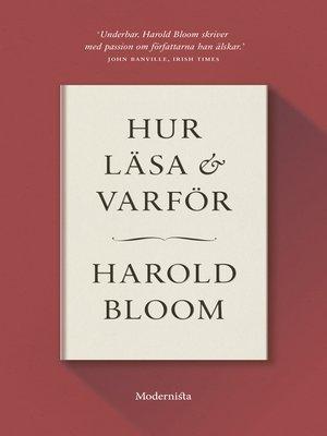 cover image of Hur läsa och varför