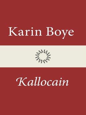 cover image of Kallocain