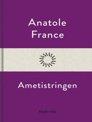 cover image of Ametistringen