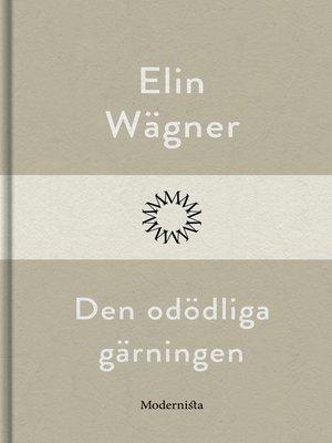 cover image of Den odödliga gärningen